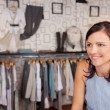 Smiling Woman In Boutique — Stock Photo