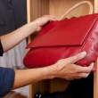 Holding Red Handbag In Store — Stock Photo #26669689