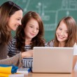 Teacher and students — Stock Photo #26709623