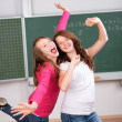 Two happy students — Stock Photo
