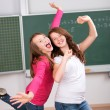 Two happy students — Stock Photo #26709655