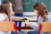 Ridendo gli studenti — Foto Stock