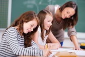 Alunos do ensino fundamental — Foto Stock