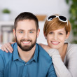 Young Couple Smiling Together — Foto Stock