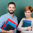 Teachers Holding Books And Files — Stock Photo