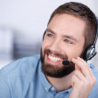 Customer Service Executive Communicating On Headset — Stock Photo #26742137