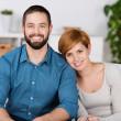 Portrait Of Happy Couple At Home — Stock Photo