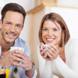 Couple drinking coffee — Stock Photo #26806375