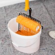 Paint bucket and roller — Stock Photo