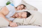 Sleeping couple — Stock Photo
