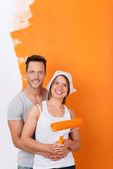 Couple in love redecorating — Stock Photo