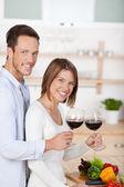 Drinking couple — Stock Photo