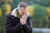 Man Suffering From Cold — Stock Photo
