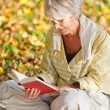 Senior Woman Reading Book In Park — Stock Photo #26922945