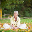 Senior Woman Relaxing In Park — Stock Photo