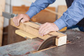 Using Table Saw — Stock Photo
