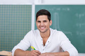 Young Male Student In Classroom — Stock Photo