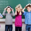 Group of elementary students — Stock Photo #27049033