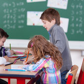 Diligent schoolchildren — Stock Photo
