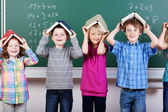 Group of elementary students — Stock Photo