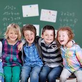 Happy little students — Stock Photo