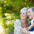 Cute elderly couple laughing — Stock Photo #27074975