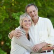 Sweet mature couple — Stock Photo