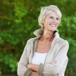 Cheerful senior woman — Stock Photo