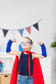 Strong superhero — Stock Photo