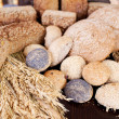Display of bread and ears of wheat — Stock Photo