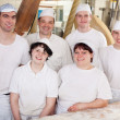 Work team in a bakery — Stock Photo
