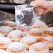 Doughnuts with sugar — Stock Photo