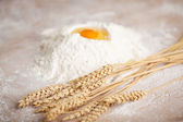 Ingredients for fresh baked bread — Stock Photo