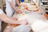 Workers in the bakery — Stock Photo