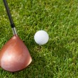Golf club an ball — Stock Photo