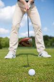 Man practising golf — Stock Photo
