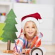 Cute little girl celebrating Christmas — Stock Photo