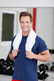 Man with towel — Stock Photo
