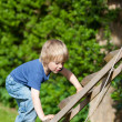 Boy Climbing Ladder In Playground — Stock Photo