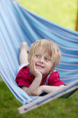Relaxing in a hammock — Stock Photo