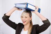 Cheerful businesswoman — Stock Photo