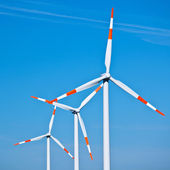 Wind Turbines Against Blue Sky — Stock Photo