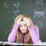 Student under stress — Stock Photo