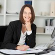 Stock Photo: Portrait of beautiful businesswomworking
