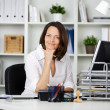 Female secretary — Stockfoto