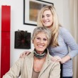 Teenage Girl With Grandmother At Home — Stock Photo