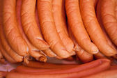 Sausages On Display At Shop — Stock Photo