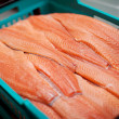Stock Photo: Sliced Fishes In Crate