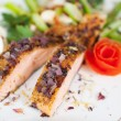 Stock Photo: Stylish salmon dish with rose shape
