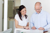 Patient And Receptionist — Stock Photo